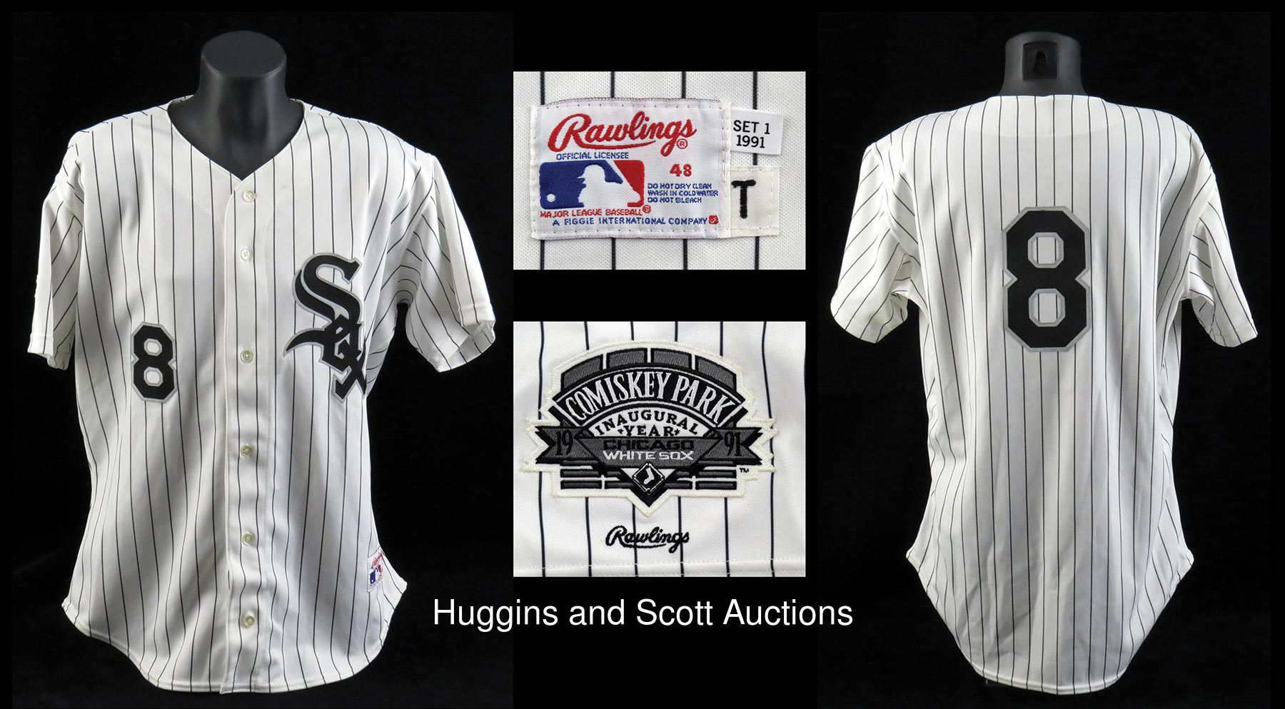 separation shoes 1c145 ffbb0 Bo Jackson 1991 Game-Worn Chicago White Sox Home Jersey ...